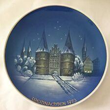 ROSENTHAL CHRISTMAS PLATE WEIHNACHTEN 1973 LUBECK HOLSTENTOR  KUSPERT GERMANY