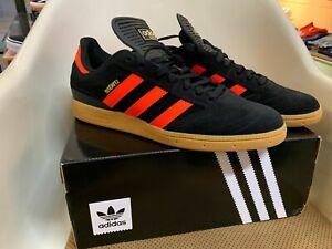 Adidas-Busenitz-Pro-Men-039-s-Skateboard-Shoes-Core-Black-Solar-Red-Gum