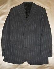 Bespoke FALLAN & HARVEY SAVILE ROW WoolCashmere Flannel Chalk Stripe Suit 40 41
