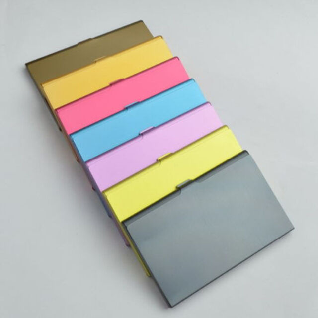 Holder Colors Simple ALUMINUM Business Wallet Credit ID Card Metal Case