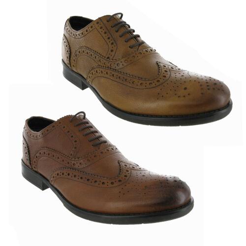Cuir chaussures marron formel travail occasionnel robe smart bureau homme chaussures uk 6-12