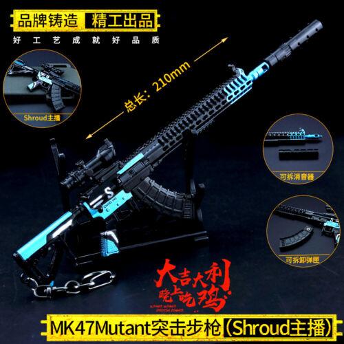 1//6 1:6 PUBG MK47 SWS 影袭 Sniper gun US BattleField4 Shadow Strike Metal 6.7inc
