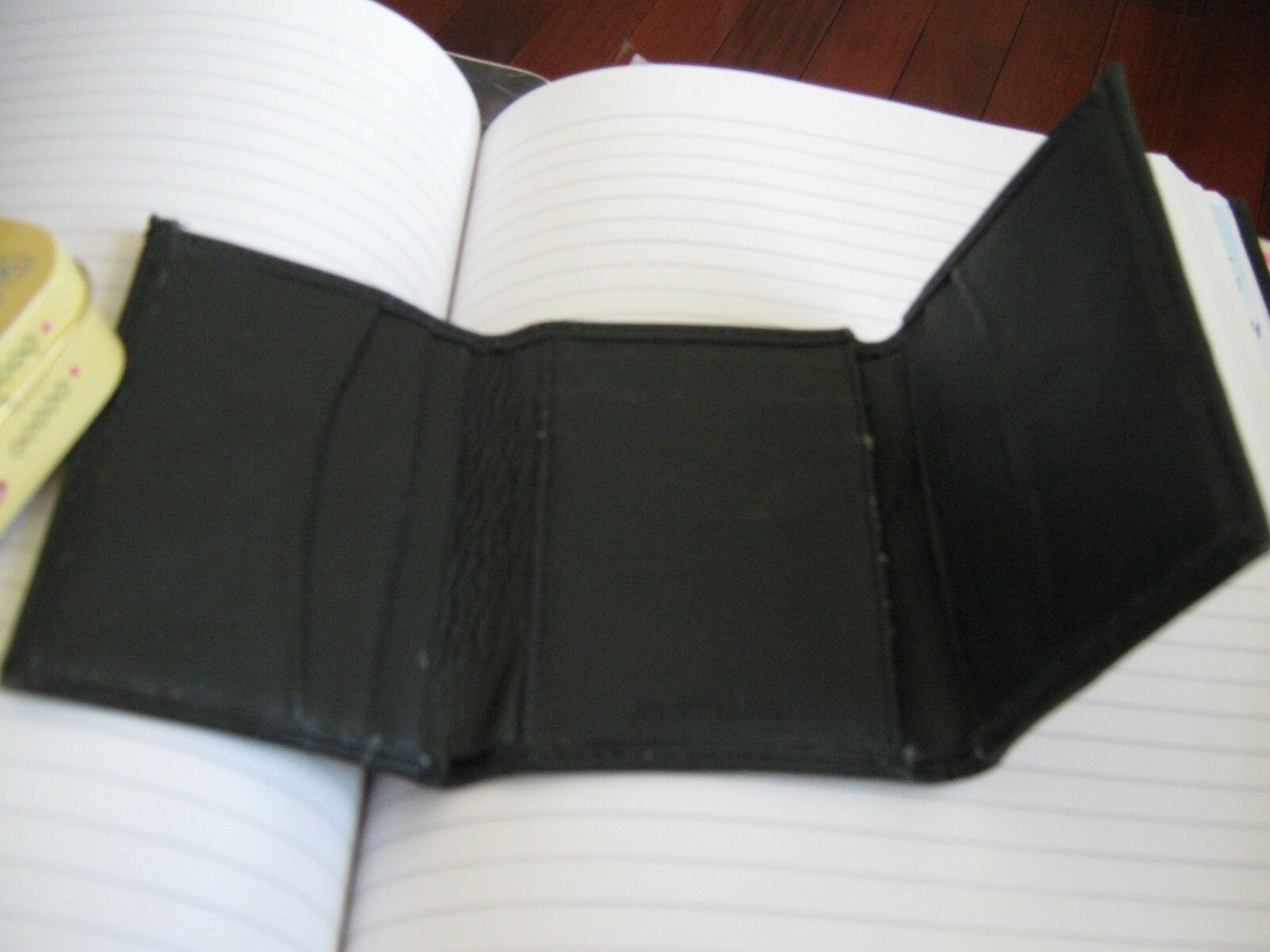 Men's , Genuine Leather ,TriFold , Black Designer Walle