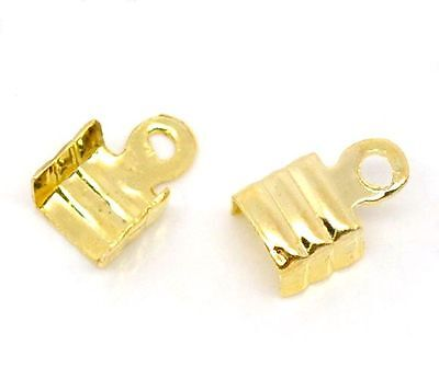 100 EMBOUTS CACHE NOEUDS A ECRASER METAL ARGENTE CLAIR 3 x 9 mm CREATION PERLE