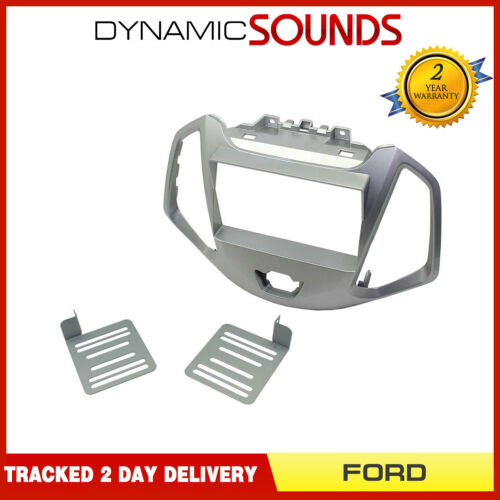 CT23FD63 Double Din Fascia Panel Plate Silver for Ford Ecosport 2013 Onwards