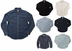 f812c284 LEVIS LONG SLEEVE SHIRT Mens Denim or Twill Workshirt Levi's in ...
