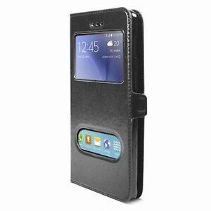 Etui-Housse-Coque-Pochette-Noir-Black-Interieur-Silicone-pour-Samsung-Galaxy-S7