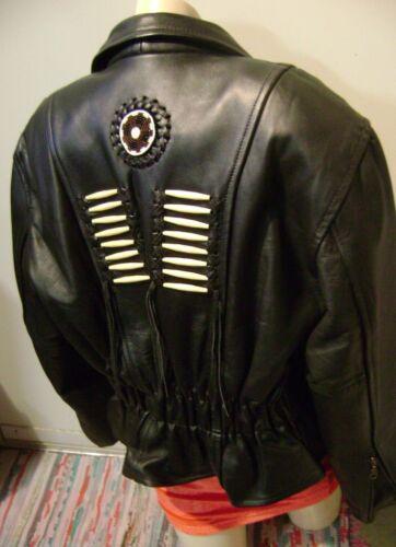 pour ~ de lourd moto taille tressé 12 femmes cuir perlé Force Réduit en Veste xSgwf0gqF