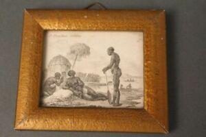Print-Graphic-D-Chodowicki-1782-Ethnologie-Antique-3te-Menschen-Varietat-Africa