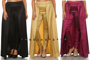 Plus Size Skinny Leg Pants Open Front Wrap Maxi Skirt
