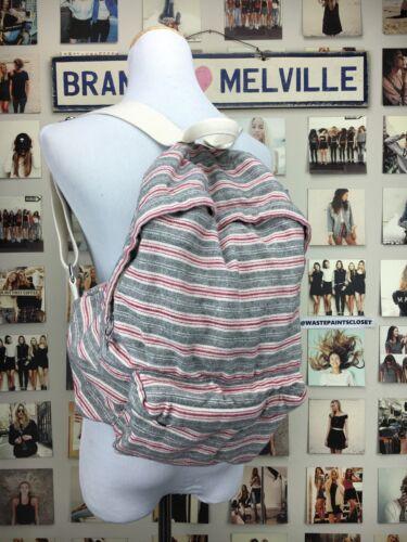 Authentic brandy melville john Galt Boho Red /& gray Striped backpack NWOT