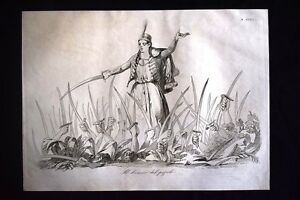 Incisione-d-039-allegoria-e-satira-Democrazia-L-Kossuth-Ungheria-Don-Pirlone-1851
