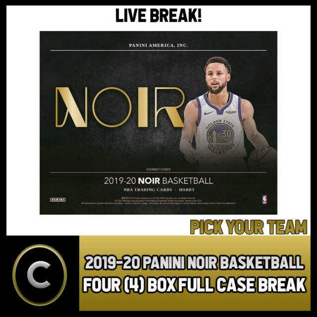 2019-20 PANINI NOIR BASKETBALL 4 BOX (FULL CASE) BREAK #B419 - PICK YOUR TEAM