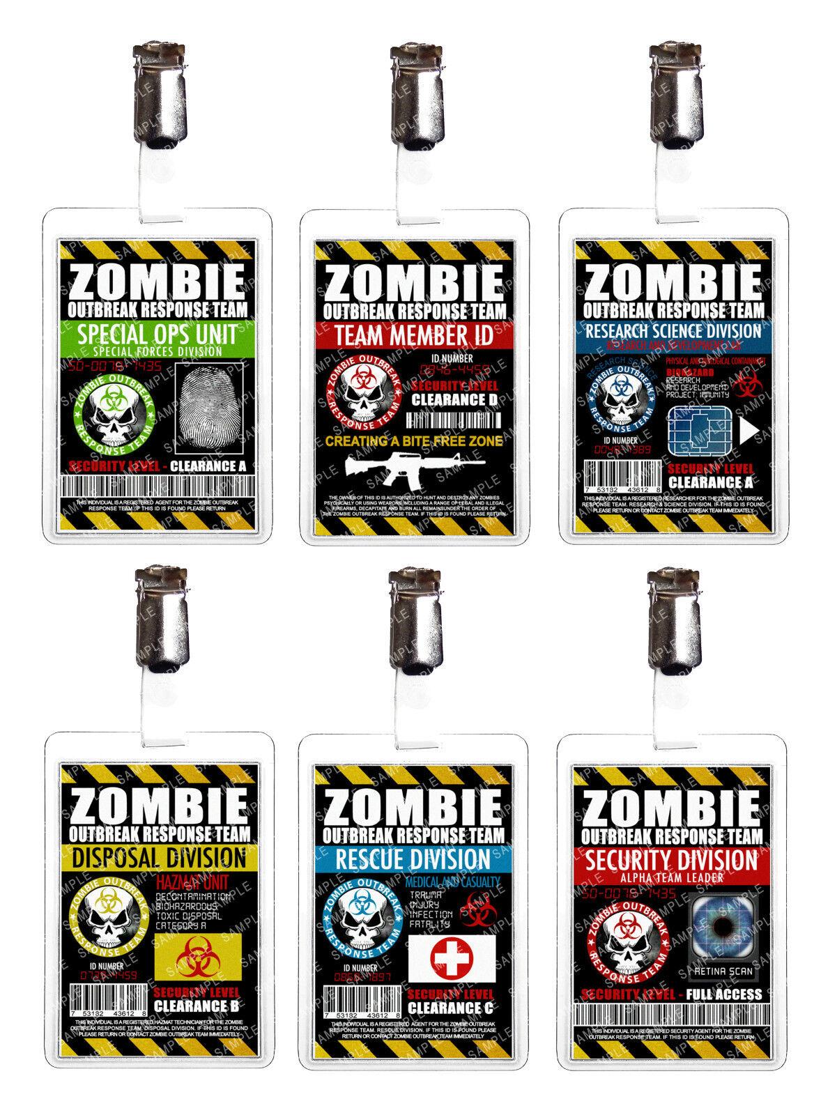 Zombie Outbreak Cosplay Prop Comic Con Fancy Dress Comic Con