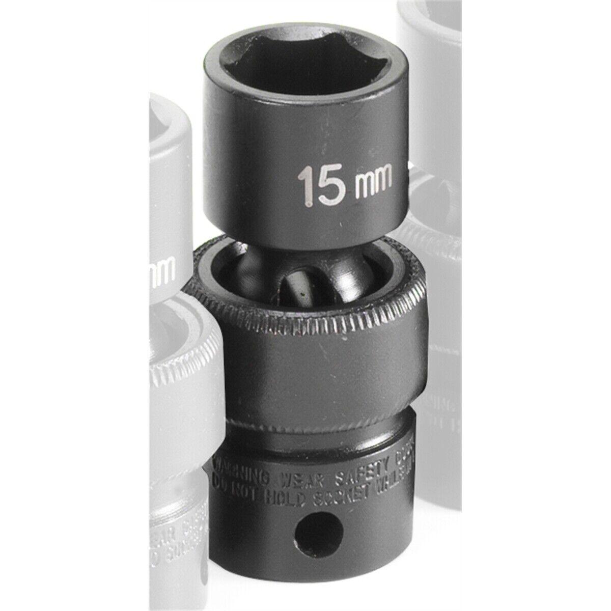 Grey Pneumatic 1015UM SOC 15MM 3//8D IMP UNIV 6PT