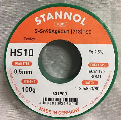 Lötzinn 500 Gramm ø1,0mm Sn99CU1 Type 2630TC bleifrei Hersteller Stannol