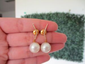 12mm-South-Sea-Pearl-w-17-CTW-Diamond-Dangling-Earrings-18k-Yellow-Gold-E513
