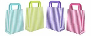 CANDY-STRIPE-BROWN-WHITE-PAPER-SOS-CARRIER-BAGS-PARTY-GIFT-WEDDING-HEN-NIGHT