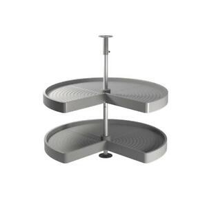 Dettagli su Coppia di cestelli 3/4 per moduli cucina angolari, minimo 80  cm, grigio Emuca