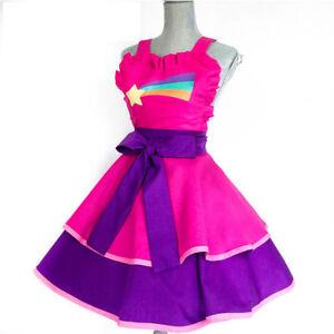Woman Gravity Falls Rainbow Cosplay Costume Dress Skirt Kimono Princess Maid Par