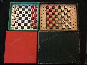 vintage-K-amp-C-Quality-chess-draughts-Travel-Vintage-Games