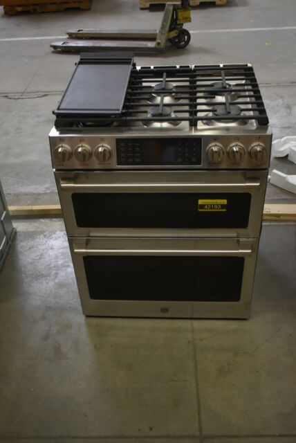 Ge Café Series 30 Slide In Front Control Dual Fuel Double Oven