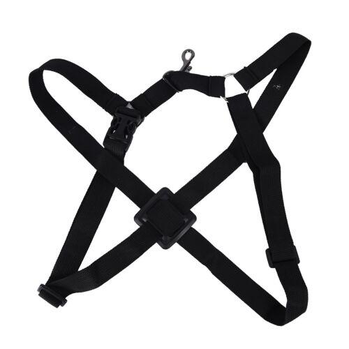 Verstellbarer Schultergurt schwarz Sax Gürtel Nackenband Saxophon Zubeh ML