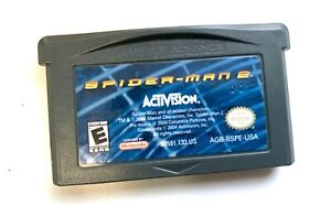 SPIDER-MAN 2 NINTENDO GAMEBOY ADVANCE SP GBA Tested + WORKING!