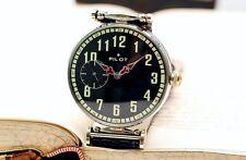 Vintage Black Pilot Molnija Molniya Molnia USSR Russian Soviet Men's Watch strap