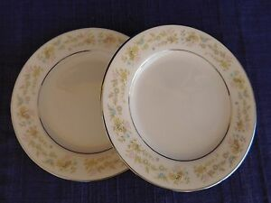Noritake-Blossom-Time-BREAD-PLATE-LOT-of-TWO-2-have-more-items-to-this-set