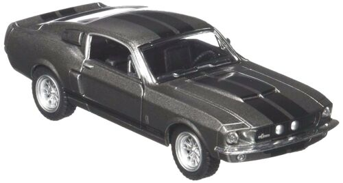 Scale 1//38 1967 Ford Shelby Mustang GT-500 Diecast Car Pull Back Action Grey