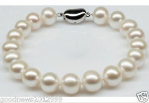 Real-Charming-AAA-Akoya-10-11mm-White-Pearl-Bracelet-7-5-Inch-925-Silver-Clasp