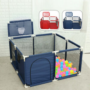 Kids-Baby-Interactive-Playpen-Play-Ten-Yard-Activity-Toddler-Folding-W-Basket