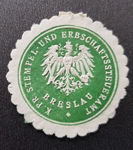 Siegelmarke-Vignette-K-Pr-Stempel-Erbschaftssteueramt-Breslau-Wroc-aw-7705-3
