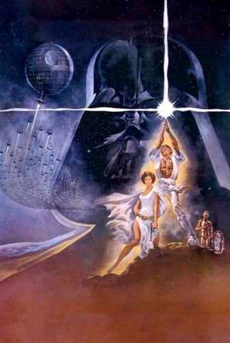 Star Wars Episode 4 A New Hope Movie Poster Print T231 A4 A3 A2 A1 A0 
