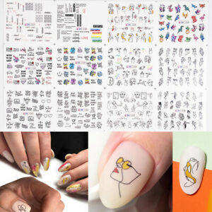 3D-Nail-Art-Design-Nail-Water-Abstract-Art-Mixed-Transfer-Stickers-Decals