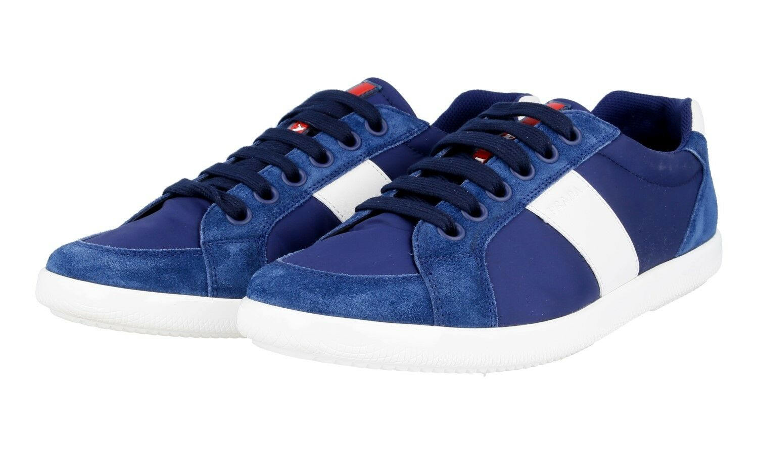 AUTHENTIC LUXURY PRADA SNEAKERS SHOES 4E2845 blue NEW US 8 EU 41 41,5