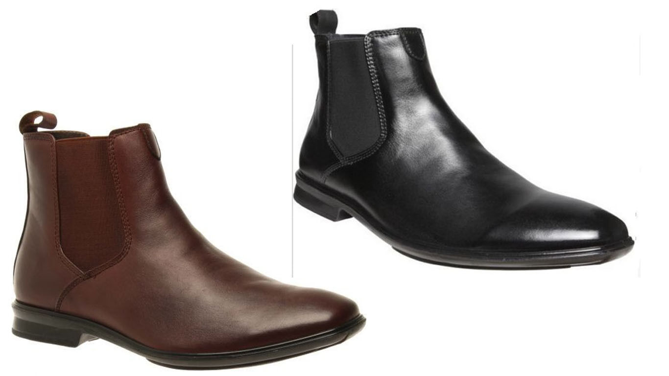 MENS HUSH PUPPIES CHELSEA FORMAL DRESS WORK CASUAL LEATHER SHOES CHEAP BOOTS