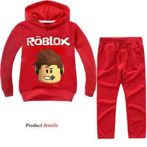 boy outfit roblox Kids Boy Girl Roblox Tracksuit Set Hooded Sweatshirt Jacket Coat Pants Outfit Ebay
