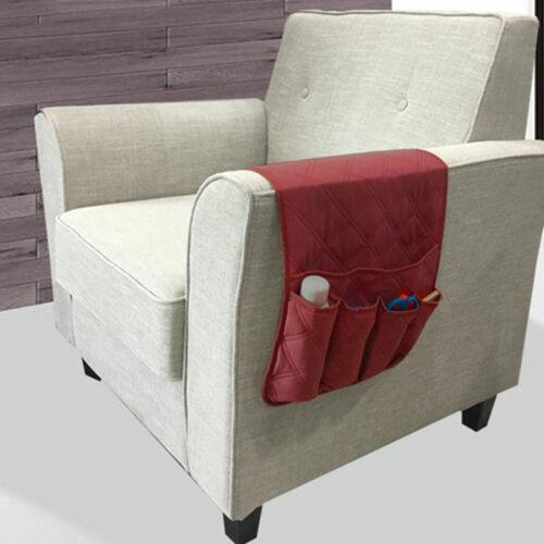 Sofa Arm Rest 6 Pocket Book Organiser Bag Couch Remote Control Storage Holder