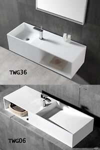 Lavabo suspendido a pared-TWG06 y TWG36,resina mineral-solid stone ...