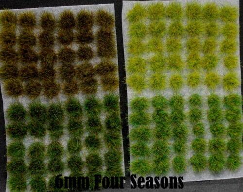 6 mm Static Grass Tufts Multi-couleur-Elfes noirs WFB AOS bases fonder terrain