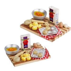 1-12-Dollhouse-Miniature-Baking-Set-Milk-Egg-On-a-Board-Kitchen-Bakery-Food-Sets