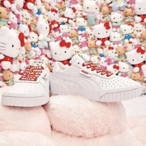 Details about PUMA x HELLO KITTY CALI Women's sneakers 372328-01 White size  8.5/JP size 25