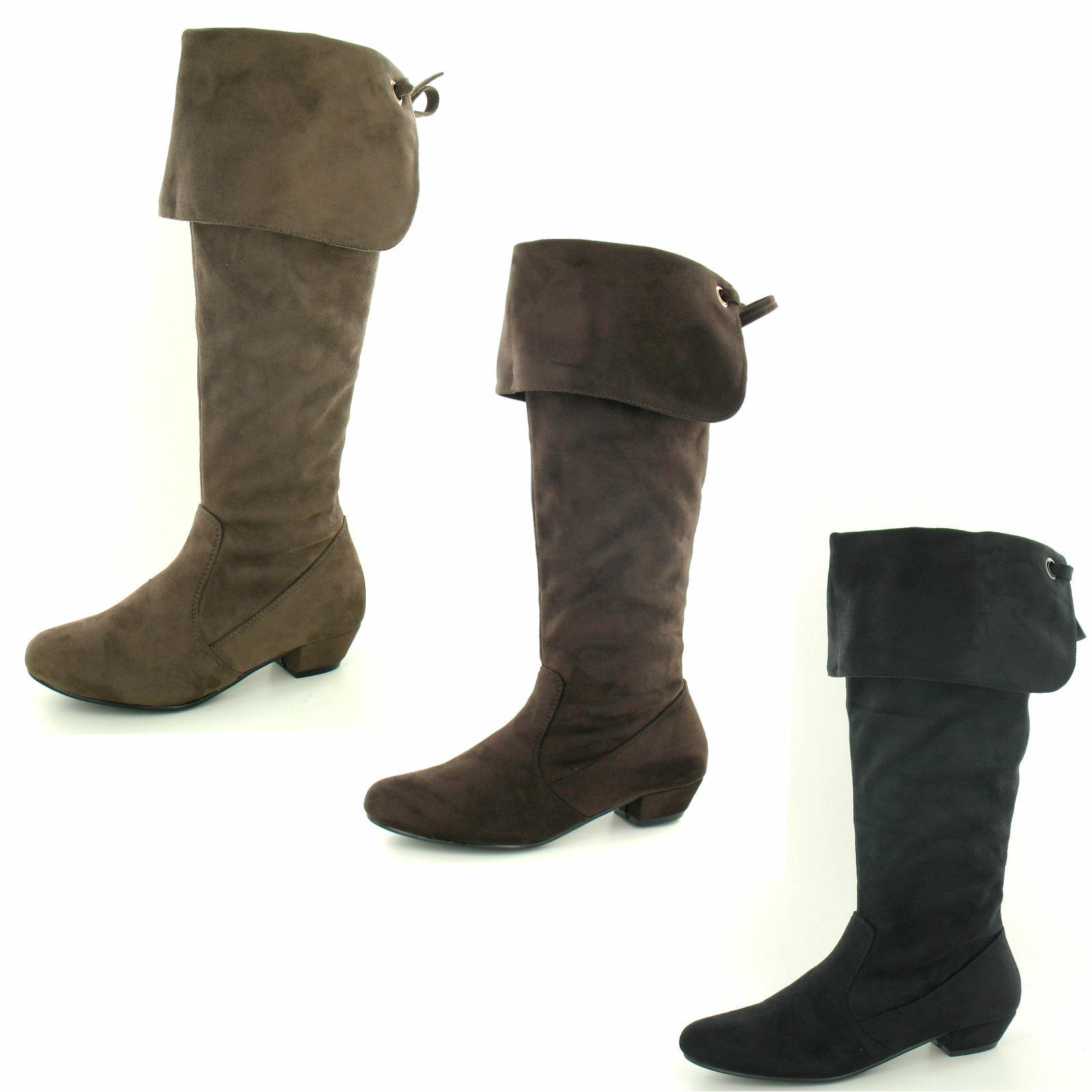 Spot on F50203 Ladies Soft Microfibre Casual Pull On Boots ~ 3 Colours
