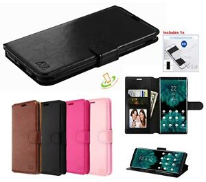 Pour-LG-G8-THINQ-Portefeuille-en-Cuir-Flip-Card-Stand-Telephone-Case-Cover-etui-Folio-Kit