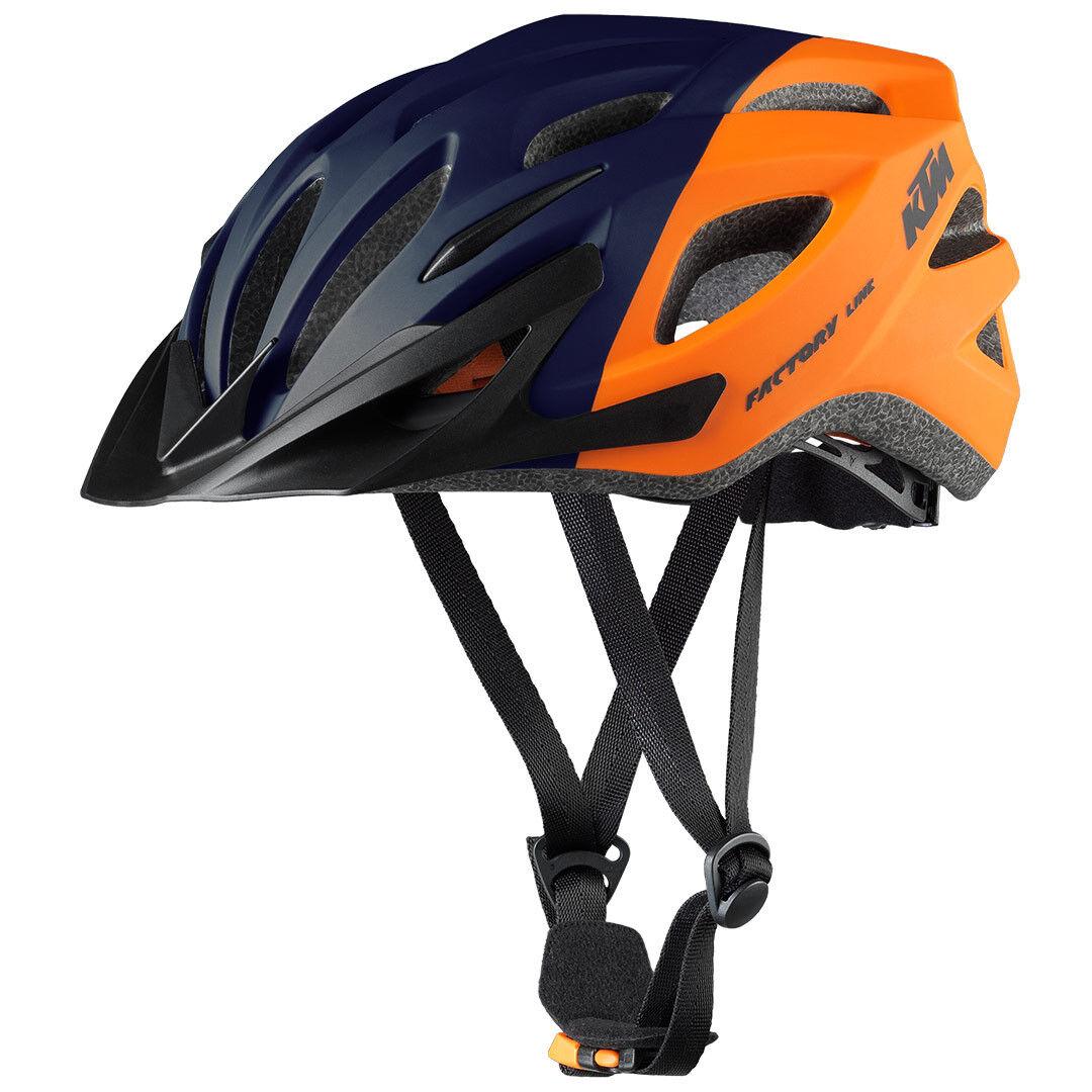 NEU  Fahrrad Bike Helm KTM Factory Line Line Line Orange Dunkelblau matt Gr. 54-58 cm dd46f2