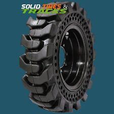 10 165 10x165 30x10 16 Solid Skid Steer Tires 4 Rims 6 Bolt For Case Deere