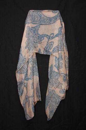 Blush /& Blue /'Flower Octopus/' Print Cool Contemporary Spring Summer Scarf S175C