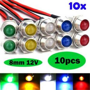 8mm-LED-Indicator-Warning-Light-Lamp-Truck-Panel-Dash-Car-Boat-Motorcycle-AU